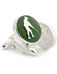 English Golfer Men's Cufflinks by Wimbledon Cufflink Company