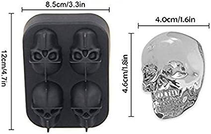 Daxoon - Molde de Silicona Flexible con Forma de Calavera en 3D ...
