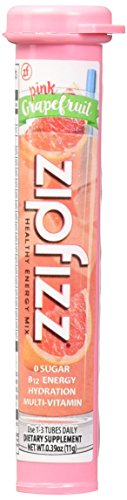 Zipfizz Healthy Energy Drink Mix, (Pink Grapefruit, 30-Count)