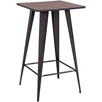 Zuo Modern Titus Rusty U0026 Elm Wood Top Bar Table, Rustic Wood