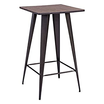 Zuo Titus Pub Table, Black Brown