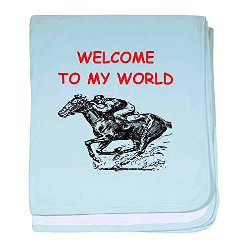 CafePress Horse Racing Baby Blanket, Super Soft Newborn Swaddle