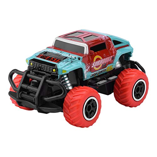 Fine Inertia Off-Road Vehicle Toy,4 Wheels Drive Trucks Toys with Damping Spring/Radio Control Toys Car for Kids for 2 3 4 5+ Year Old Boys and Girls (A) (Off Discount Tires Road)