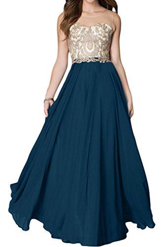 dell'abito in punta donna Applicazione rotonda una A alta di lunga Blaugruen colletto qualità inox festa Bete con sera da vestito linea Ivydressing acciaio wTgvFEqFx