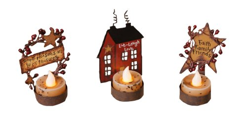 Your Heart's Delight Inspirational Themed Tealight Holders, 3-1/2 to 4-Inch, Set of 3