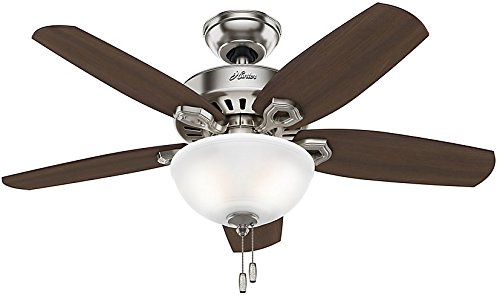 Hunter fan company 52219 traditional builder small room brushed hunter fan company 52219 traditional builder small room brushed nickel ceiling fan with light 42 amazon aloadofball Image collections