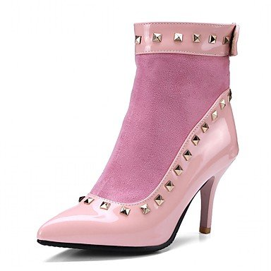 EU40 Ankle Boots Heel CN41 Boots Winter Career RTRY For US9 Toe Pointed Fashion amp; Stiletto Leatherette Fall Casual Shoes UK7 Women's Booties Office Rivet Boots 6SqOpB