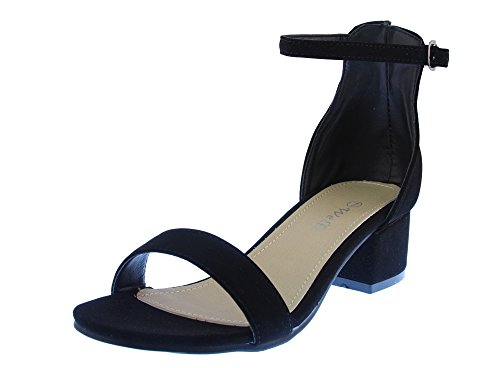 Buy black strap dress sandals - 2
