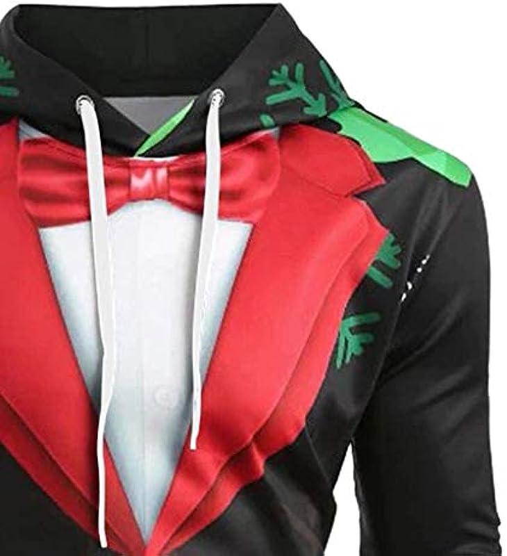 yazidan męska koszulka z długim rękawem Boże Narodzenie sweter z kapturem zabawny Ugly bożonarodzeniowy sweter z długim rękawem Slim Fit nadruk Hoodies bluza swetry Christmas świąt