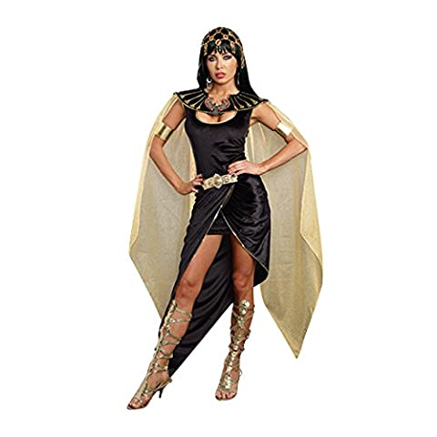 Dreamgirl Women's Cleo Egyptian Queen Costume, Black, Small - Black Queen Adult Costume