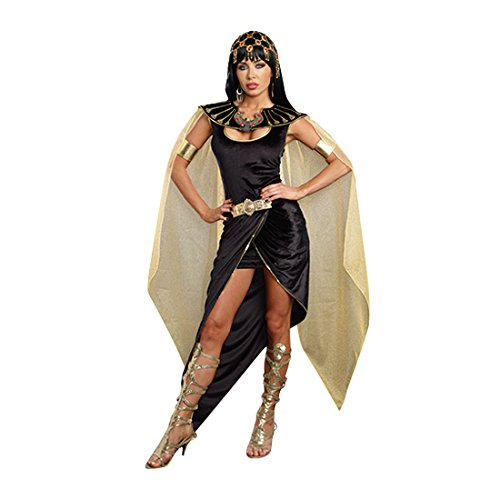 Dreamgirl Women's Cleo Egyptian Queen Costume, Black, Small (Egyptian Girl Sexy)