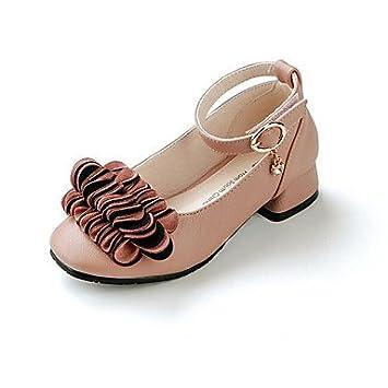 Wuyulunbi@ Las Niñas Pu Zapatos Otoño Invierno Confort Flower Girl Zapatos Mocasines & Slip-Ons For Casual Rubor Rosa Negro: Amazon.es: Deportes y aire ...
