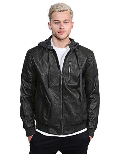 Youstar Racer Leather Hooded Jackets