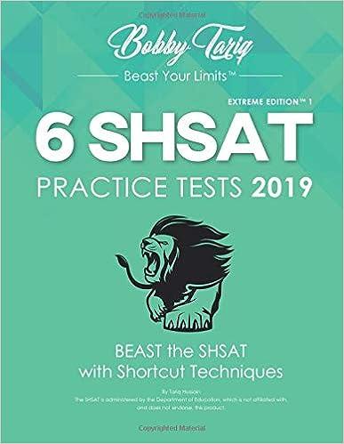 picture regarding Shsat Practice Test Printable called 6 SHSAT Teach Checks 2019: Tariq M Hussain: 9781796242669