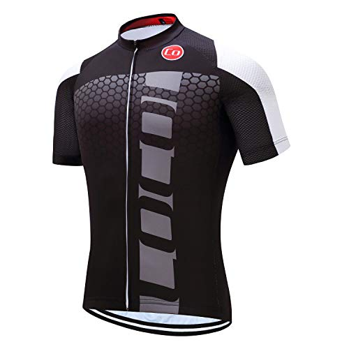 Coconut Men s Shorts Sleeve Cycling Jersey Tops Bike Clothing Biking Shirt  with 3 Pockets (Black White 6f0e45905