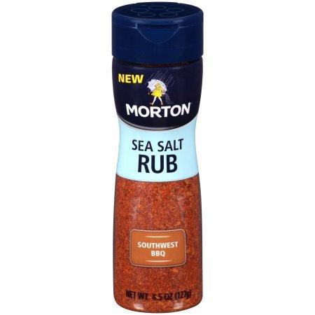 Sea Salt Rub - Morton Sea Salt Rub Southwest BBQ 4.5 oz (Pack of 3)