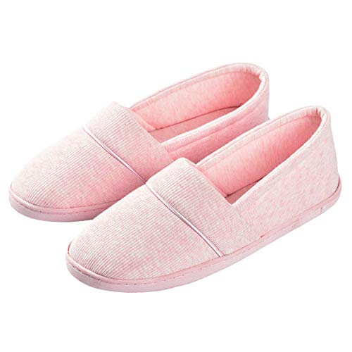 House Shoes Sole Slippers Pink Washable bestfur Cozy Women's Cotton Skid Soft Anti qBBf8z