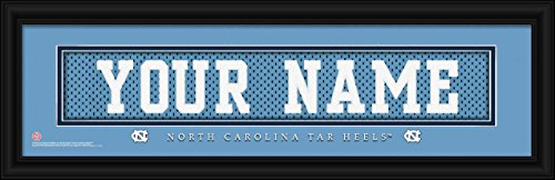 Laminated Visuals North Carolina Tar Heels - Personalized Jersey Nameplate - Framed Poster Print -