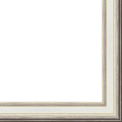 "24x36 1.75"" 'Prima"" Silver Contemporary Wood Frame - Great f"