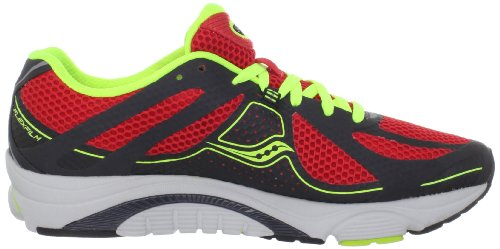 Saucony Mens Mirage 3 Running Shoe Grey/Red/Citron 0umSjq7P