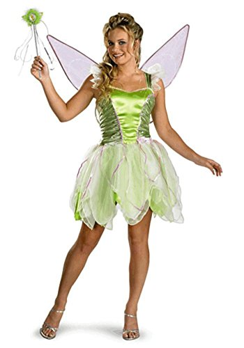 Tinker Bell Deluxe Costume - Large - Dress Size 12-14 (Womens Tinkerbell Costume)