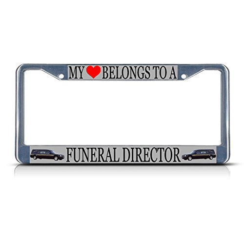 Rescue Bravo Knife (Funeral Director Style 2 Profession Metal License Plate Frame Tag Border Perfect for Men Women Car garadge Decor)