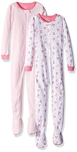 The Childrens Place Baby Girls Long Sleeve One Piece Pajamas 2  Cameo 85249  Pack Of 2   9 12Mos