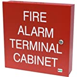 Space Age Electronics SSU00645 TC2, 32-Point Terminal Cabinet with CAT30 Keyed Door Lock, Red Finish