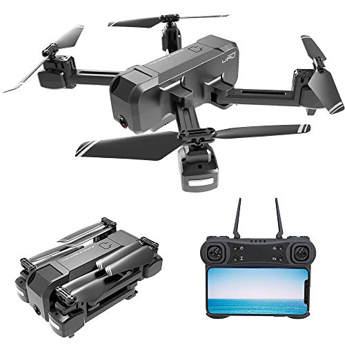 GoolRC Drone KF607 Foldable Drone with Dual Cameras - 1080P FPV HD Camera/Video and 480P Optical Flow Positioning Camera, RC Toy Quadcopter