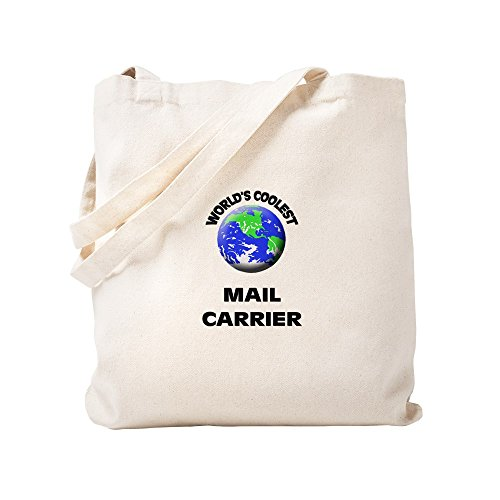 CafePress World's Coolest Mail Carrier Natural Canvas Tote