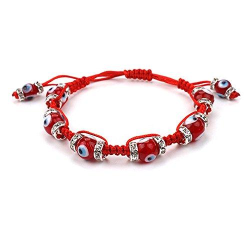 Muzuri Fengshui Adjustable Handmade Evil Eyes Good Luck Bracelet Red String Bracelet Talisman Nazar Evil Eye Amulet Protection