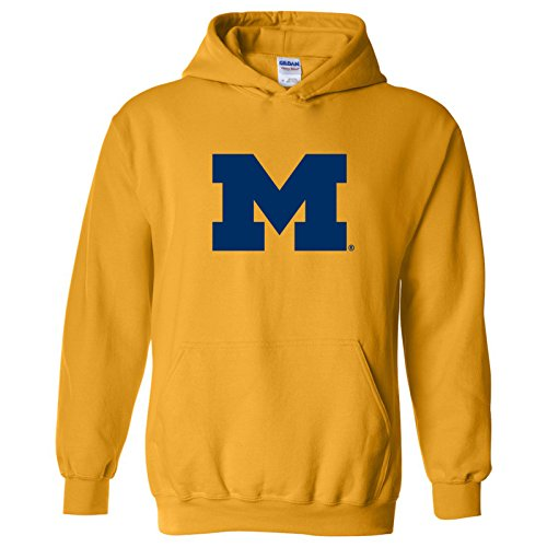 Michigan Wolverines Primary Logo Hoodie - Large - - Primary Logo Fashion