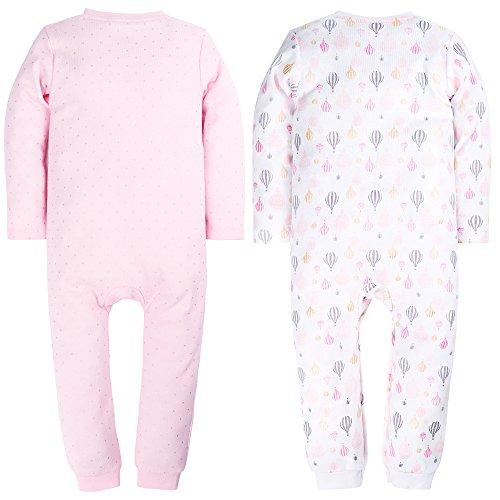 23732cb6b Jual Baby Girl Cute 2 Pack Pajamas Baby Pink Cat Printing Footed ...