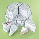 Wedding Cake Slike Treat Favor Boxes - 20 pcs