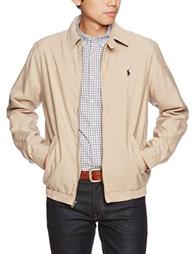 Polo Ralph Lauren Mens Bi-Swing Windbreaker Jacket (Khaki, X-Large) -