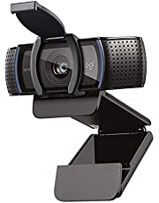 Logitech C920S HD Pro Webcam, Full HD 1080p/30fps Video Calling, Clear Stereo Audio, HD Light Correction, Privacy Shutter, Works with Skype, Zoom, FaceTime, Hangouts, PC/Mac/Laptop/Tablet/XBox - Black