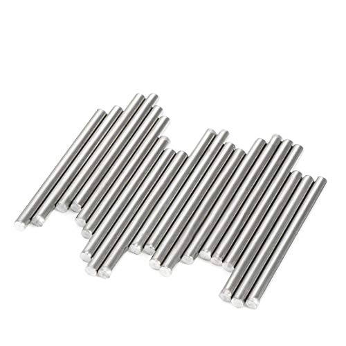 ZCHXD 20Pcs Stainless Steel Round Shaft Rods Axles 2mm x 35mm for RC Toy Car