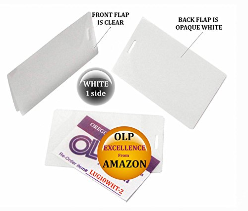 LAM-IT-ALL Hot Laminating Pouches Luggage Tag (Pack of 200) 10 mil 2-1/2 x 4-1/4 White/Clear