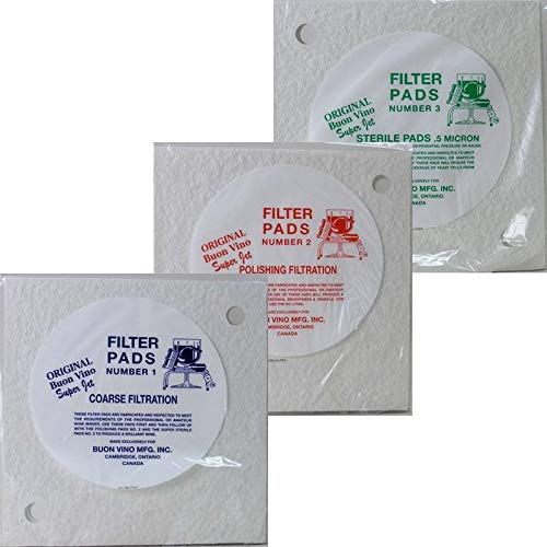 Buon Vino Super Jet Filter Pad Bundle, White