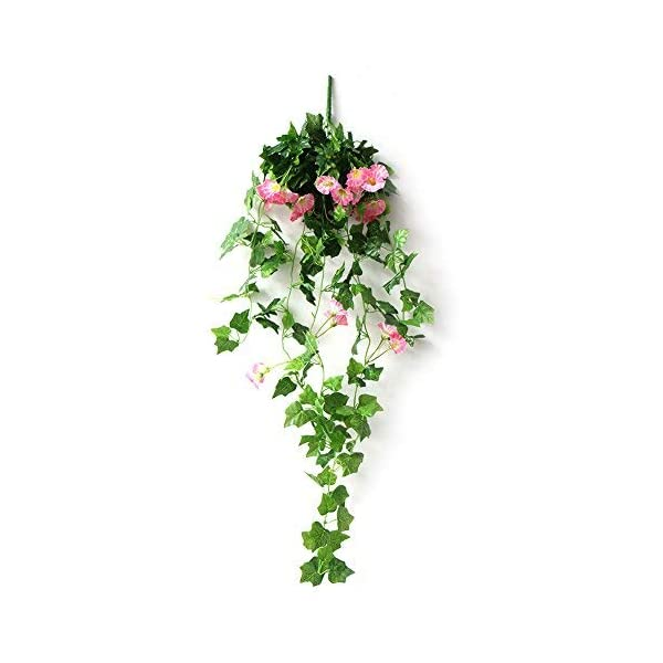 DaJun-Artificial-Vines-2-Pcs-Morning-Glory-Simulation-Hanging-Plants-3543in-with-1-Pcs-Basket-Silk-Garland-Planter-Bonsai-for-Outdoor-Indoor-Wedding-Party-Garden-Wall-Decoration