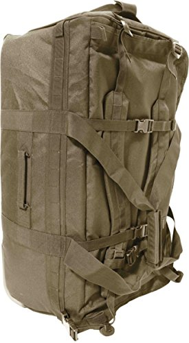 Humvee Roller Deployment Bag with Shoulder Straps/Rugged Steel Wheel Housing/Weather Resistant 1000 Denier Nylon, Tan, 30x12x14-Inch (Weather Housing)