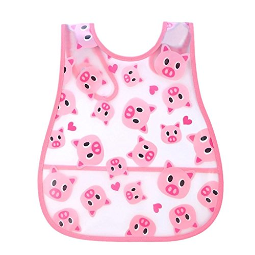 Baby Girls Boys Bibs, VEKDONE Cute Kid Infant Bibs Baby Soft Cartoon Bib Waterproof Saliva Dripping Bibs (C)