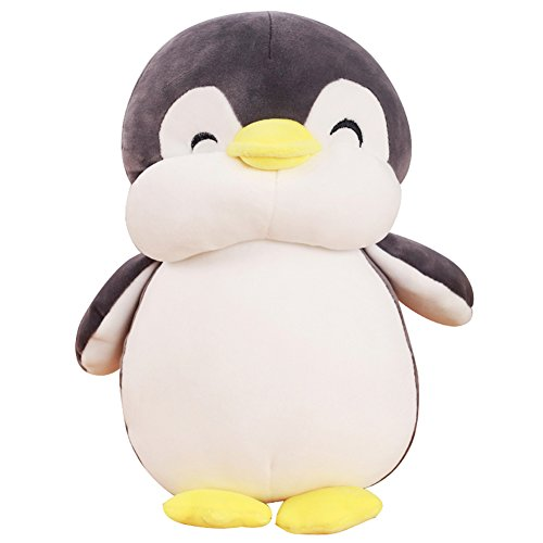 VSFNDB Penguin Plush Toy 12 Inch Gray Large Stuffed Animal Hugging Pillow Cushion Stuff Dolls - Super Soft Cuddly Figures for Child Kids Gift Party Favors - 12
