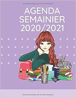Amazon.com: Agenda semanier 2020/2021 pour filles: planner