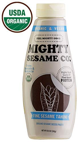 (Mighty Sesame, Organic, Fine Sesame Tahini, 10.9oz, Squeezable Bottle, Gluten Free, Ready to use!)