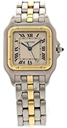 Cartier Panthere swiss-quartz white unisex-adult Watch 187949 (Certified Pre-owned)