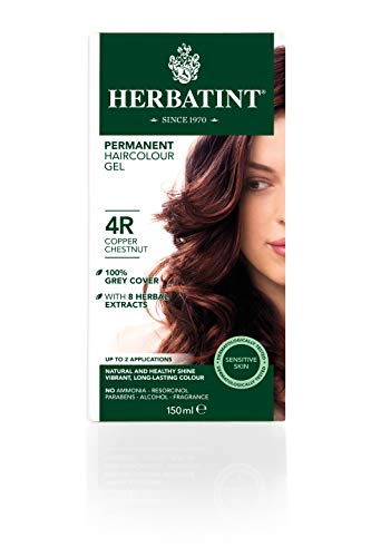 Herbatint Copper Chestnut 4R Ammonia Free Hair Colour 120Ml by Herbatint