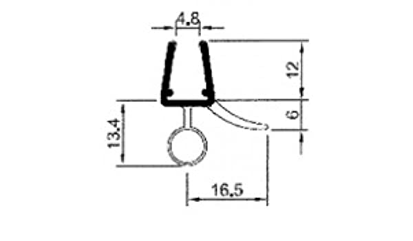 Perfil de impermeabilización universal tipo SINA, precurvado, 2 x ...