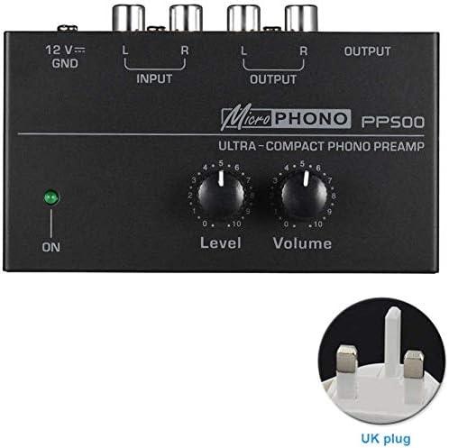 Dengofng PP500 Ultracompacto Preamplificador de Phono Preamp con ...