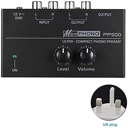 Dengofng PP500 Ultracompacto Preamplificador de Phono Preamp ...